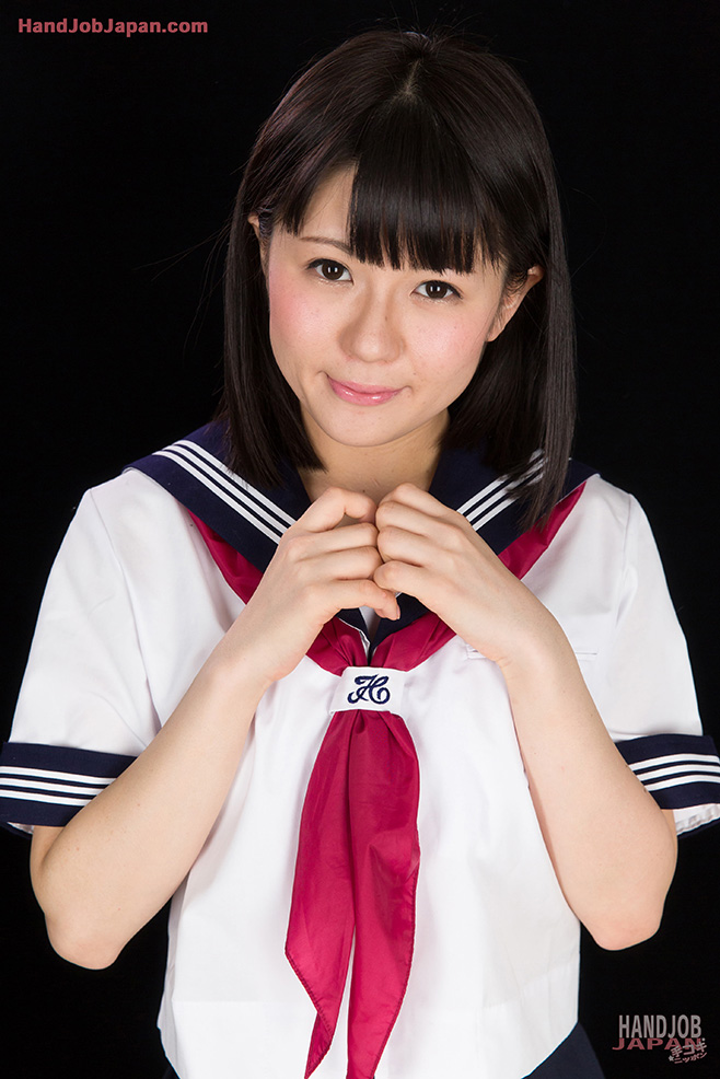 japanese highschool girl sailor pussy Japanese girl in sailor uniform jerks a cock until it blows ...